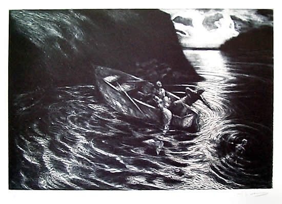 "<h4 style=""margin:0px 0px 5px 0px"">Night Fishing</h4>Medium: Etching<br />Price: $440 