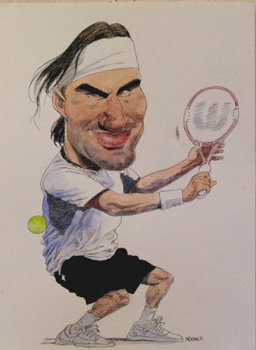 "<h4 style=""margin:0px 0px 5px 0px"">Roger Federer</h4>Medium: Ink &amp; watercolour<br />Price: Sold 