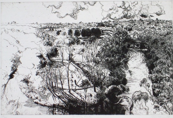 "<h4 style=""margin:0px 0px 5px 0px;"">Studley Park</h4>Medium: Etching<br />Price: $550 <span style=""color:#aaa"">