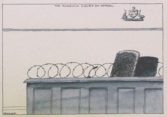 "<h4 style=""margin:0px 0px 5px 0px;"">The Ruddock court of appeal</h4>Medium: Ink & watercolour<br />Price: Sold <span style=""color:#aaa"">