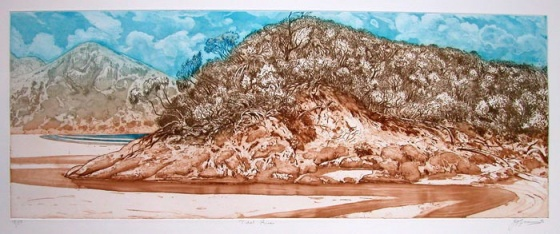 "<h4 style=""margin:0px 0px 5px 0px;"">Tidal River</h4>Medium: Etching<br />Price: $600 <span style=""color:#aaa"">