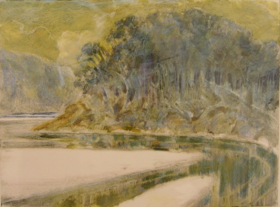 "<h4 style=""margin:0px 0px 5px 0px;"">Tidal River IV</h4>Medium: Monoprint & Pastel<br />Price: Sold <span style=""color:#aaa"">