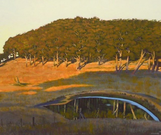 "<h4 style=""margin:0px 0px 5px 0px"">John Spooner - Lancefield Dam by John Spooner</h4>Medium: Acrylic on canvas<br />Price: $2,500 