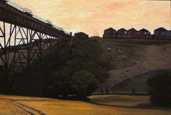 "<h4 style=""margin:0px 0px 5px 0px"">Trestle bridge by John Spooner</h4>Medium: Acrylic on canvas<br />Price: $3,900 