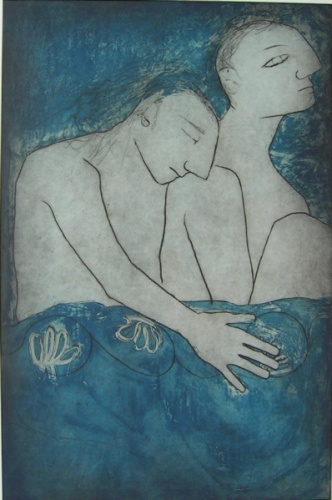 "<h4 style=""margin:0px 0px 5px 0px"">Blue Midnight</h4>Medium: Drypoint/Etching<br />Price: $500 