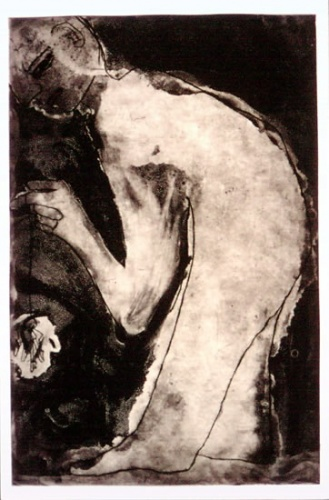 "<h4 style=""margin:0px 0px 5px 0px;"">The Long Weight</h4>Medium: Etching/Drypoint<br />Price: $500 <span style=""color:#aaa"">
