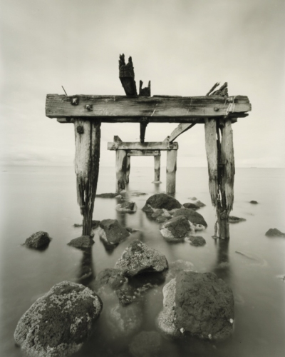 "Point Cook Jetty<br /><br />Medium: Silver Gelatin Contact Print Pinhole Camera<br />Price: $800<br /><a href=""Artwork-Tatnall-PointCookJetty-3089.htm"">View full artwork details</a>"