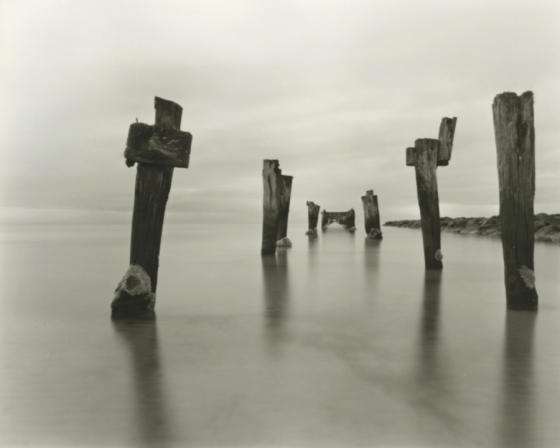 "Steamer Jetty<br /><br />Medium: Silver Gelatin Contact Print Pinhole Camera<br />Price: $800<br /><a href=""Artwork-Tatnall-SteamerJetty-3091.htm"">View full artwork details</a>"