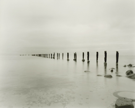 "Sulphur Jetty<br /><br />Medium: Contemporary Pinhole TeSilver Gelatin Contact Print Pinhole Camera<br />Price: $800<br /><a href=""Artwork-Tatnall-SulphurJetty-3093.htm"">View full artwork details</a>"