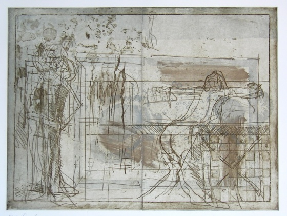 "<h4 style=""margin:0px 0px 5px 0px"">Interior with reclining figure</h4>Medium: Etching<br />Price: $1,000 