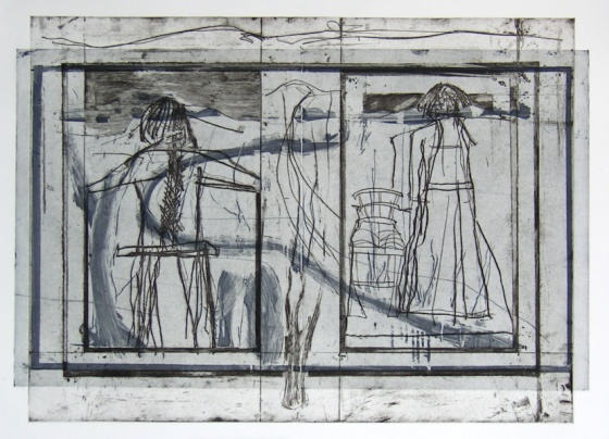 "<h4 style=""margin:0px 0px 5px 0px"">Interior with standing figures and chair</h4>Medium: Etching<br />Price: $1,000 