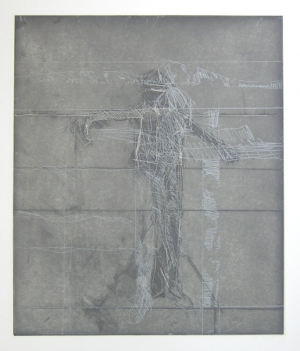 Standing figure on grey ground (Annabranch) by John Waller